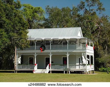 Stock Photo of Ellenton, FL, Florida, Gamble Plantation Historic.