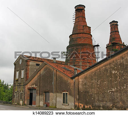 Stock Photo of industrial heritage site with a historic building.