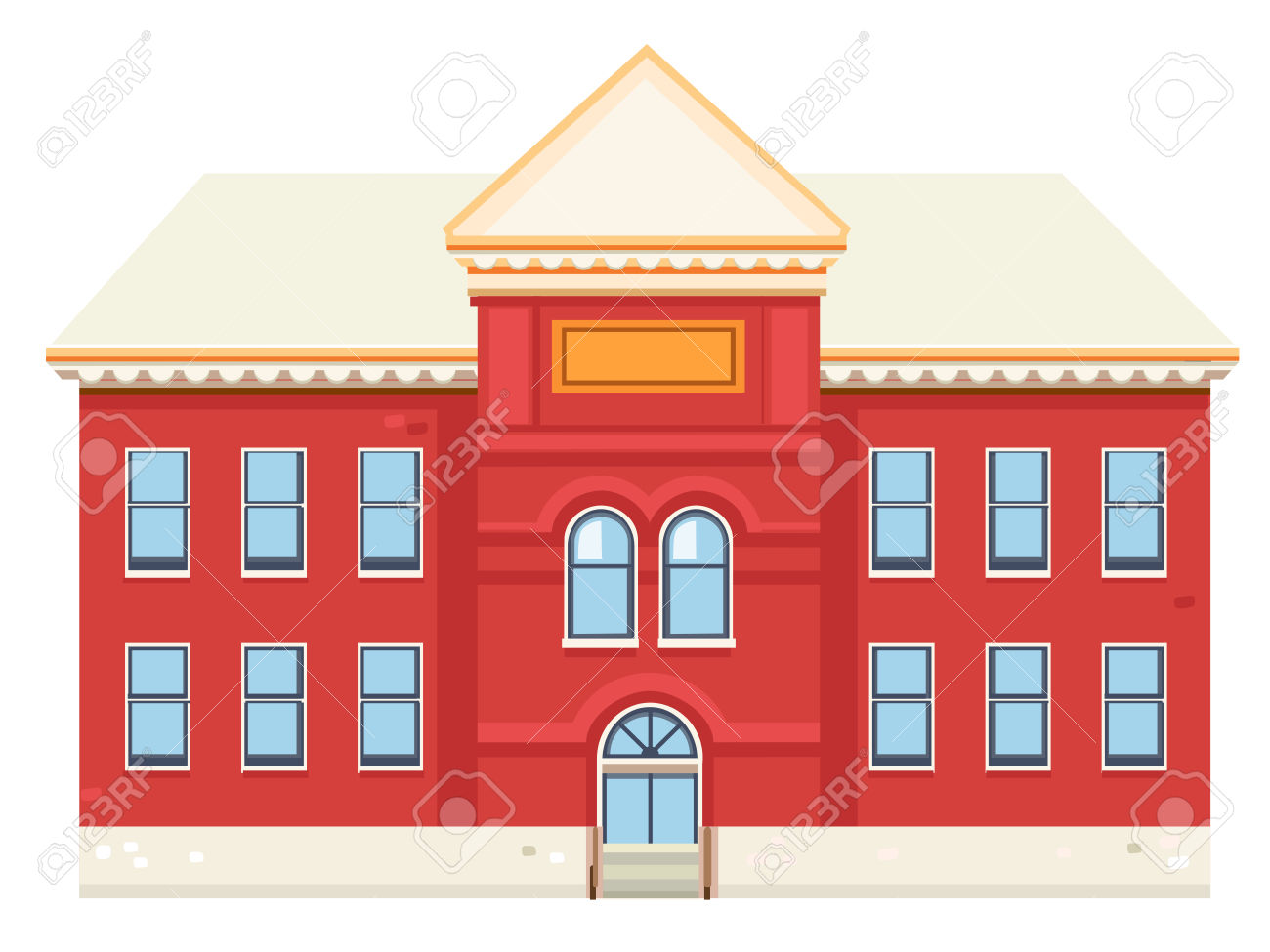 Red Brick Building Royalty Free Cliparts, Vectors, And Stock.