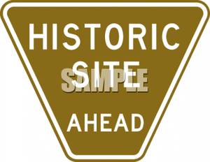 Site Ahead Road Sign.
