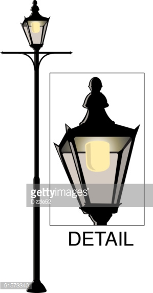 Historic Street Light Stock Illustration.