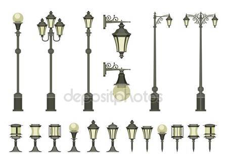 Historic street lamps Stock Vectors, Royalty Free Historic street.