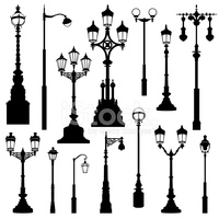 Street Lamp Street Lights Retro stock vectors.