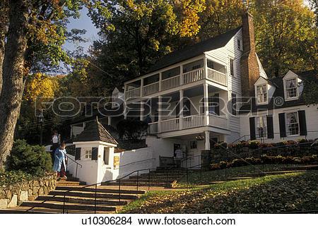 Stock Photo of tavern, Charlottesville, VA, Virginia, Historic.