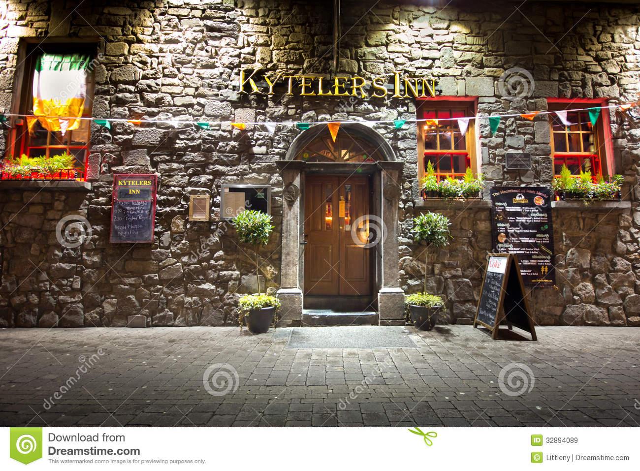 Historic Irish Pub Editorial Stock Image.