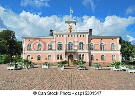 Stock Photo of Loviisa, Finland. Town Hall.