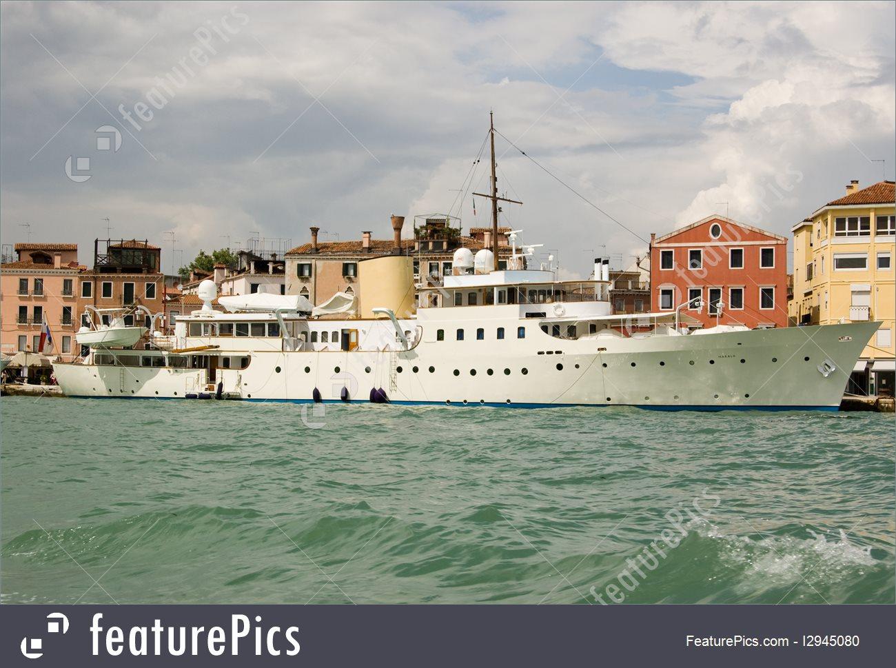 Europe: Historic Yacht Marala At Venice.