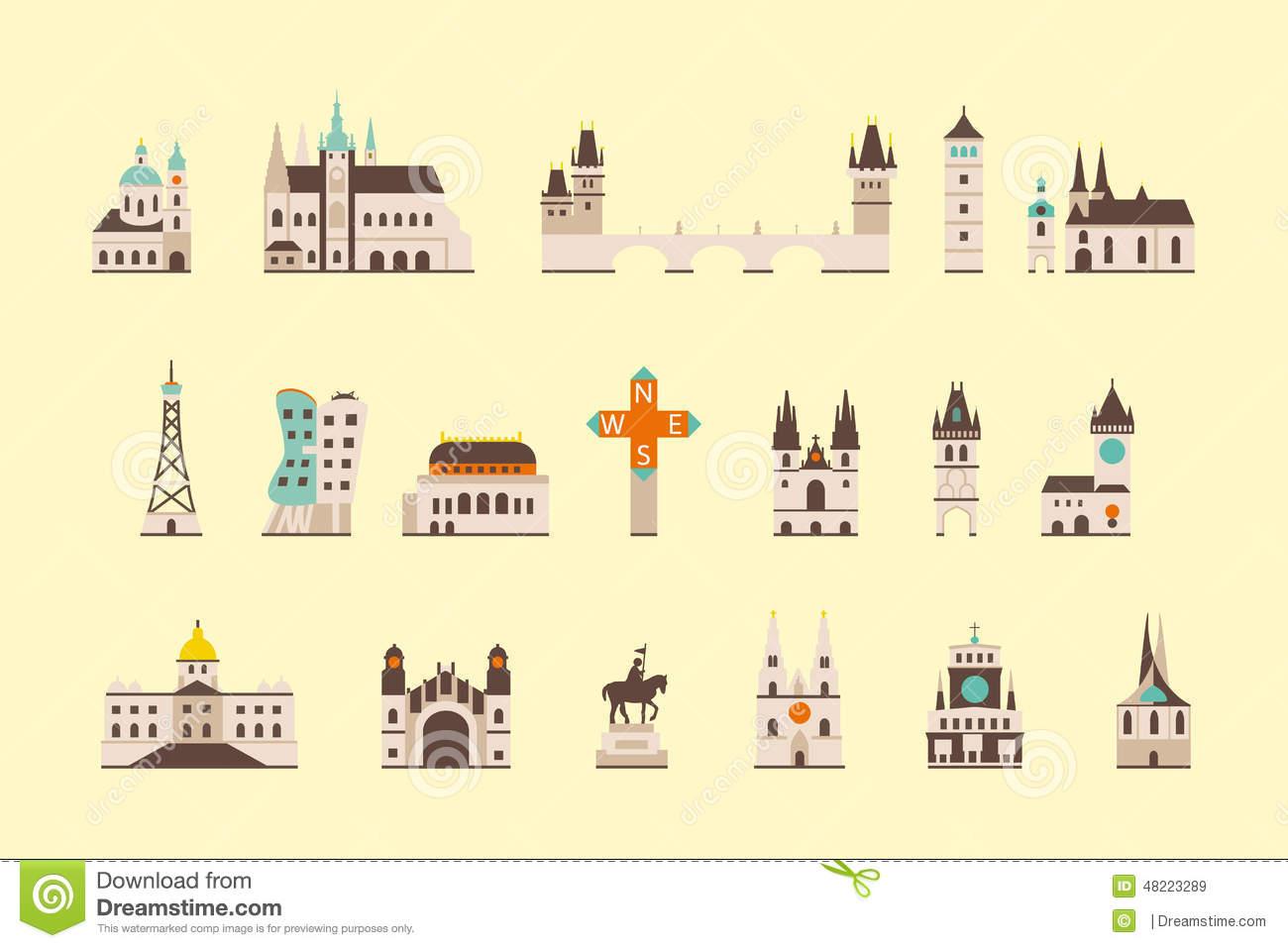 Berlin Historical Building Stock Vector.