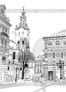 Lviv historical building.