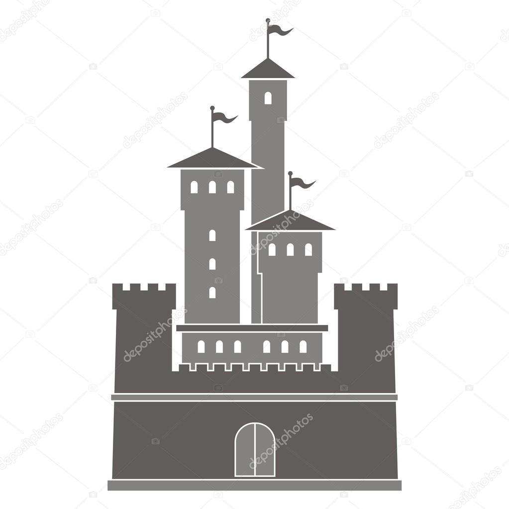 Vector illustration of a historical building. — Stock Vector.
