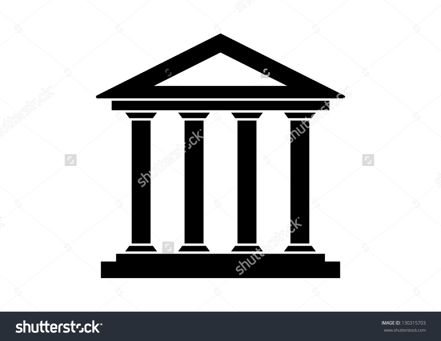 Historical Building Stock Vector 130315703.