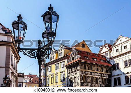 Stock Photo of historical centre of the Prague k18943012.