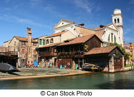 Stock Photos of Foreshortening of Venice historical centre.