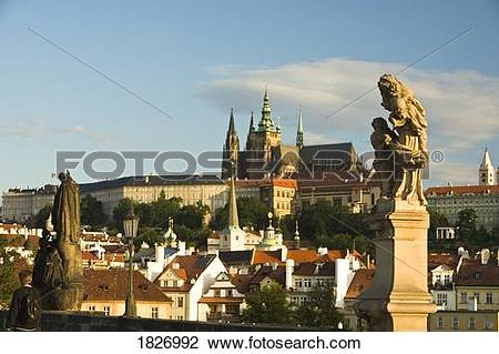 Stock Photo of Prague Castle, Baroque Sculptures from the 18th.