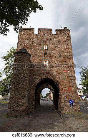 Stock Images of Germany, North Rhine Westphalia, Zulpich, View of.