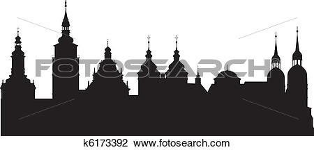 Clipart of Historical city k6173392.