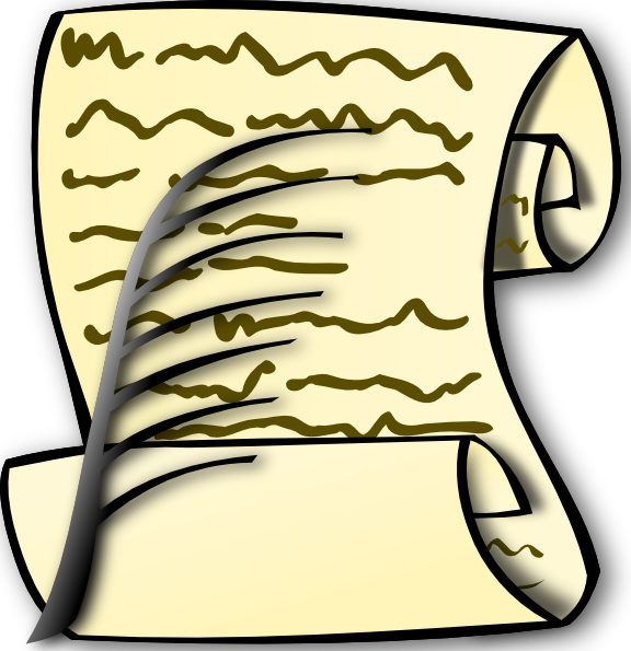 Document clipart document scroll, Document document scroll.