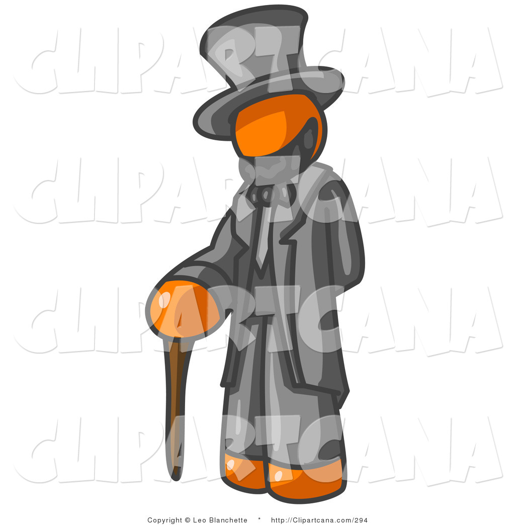 Vector Clip Art of an Orange Man Depicting a Historical Figure.
