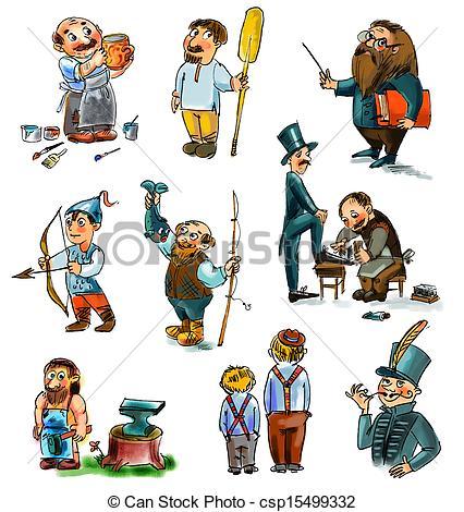 Famous Historical Figures Clip Art.