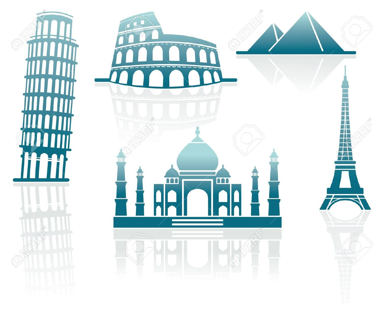 Icons Of Architectural Monuments Royalty Free Cliparts, Vectors.