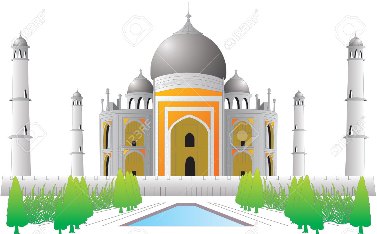Tajmahal Old Indian Historical Place Royalty Free Cliparts.