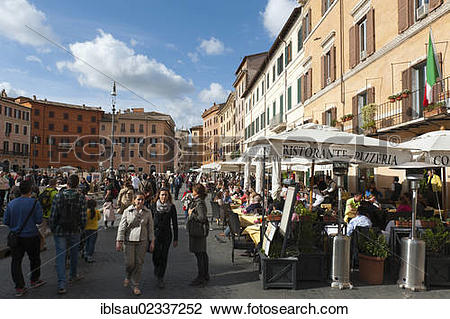 """Stock Photo of """"Historical Baroque town centre, restaurants."""