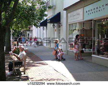 Stock Photo of Southampton, NY, New York, Long Island, Historical.