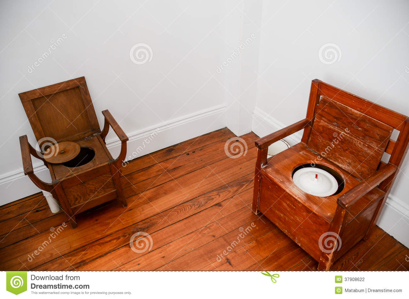 Historical Toilets Stock Photography.
