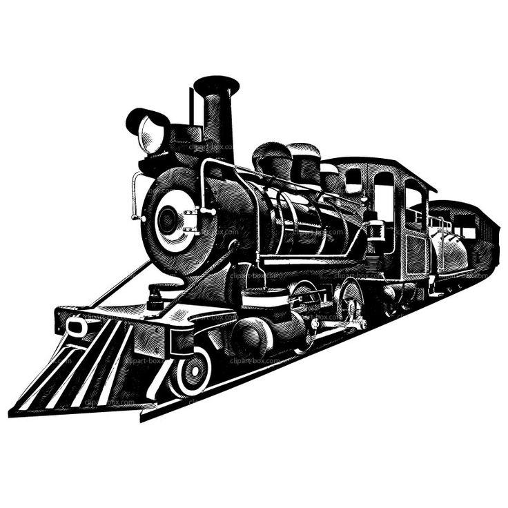 Railroad train clipart.