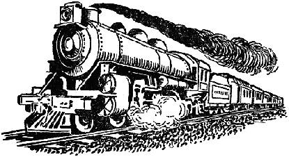Steam engine clip art.