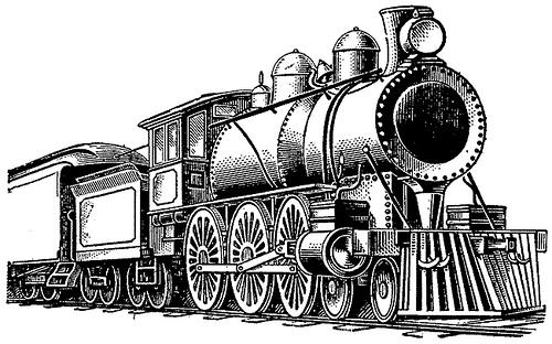 Steam Train Clipart.