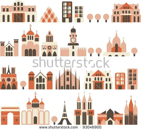 Castle Icons Stock Vector 141771133.