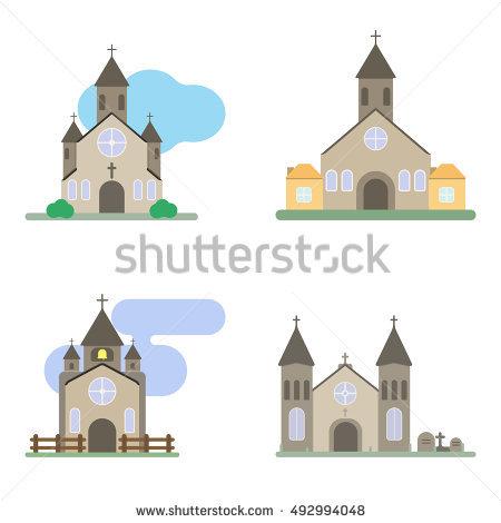 Castle Church Vector Stock Vector 225996058.