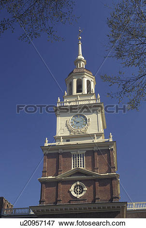 Picture of Independence Hall, Philadelphia, Pennsylvania, PA.