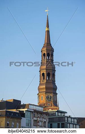 """Stock Image of """"Tower of Hauptkirche Sankt Katharinen, St."""