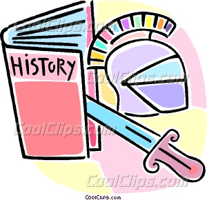 history book and artifacts Vector Clip art.