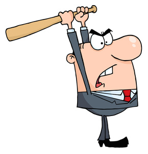 Angry Person Cartoon Clipart Image.