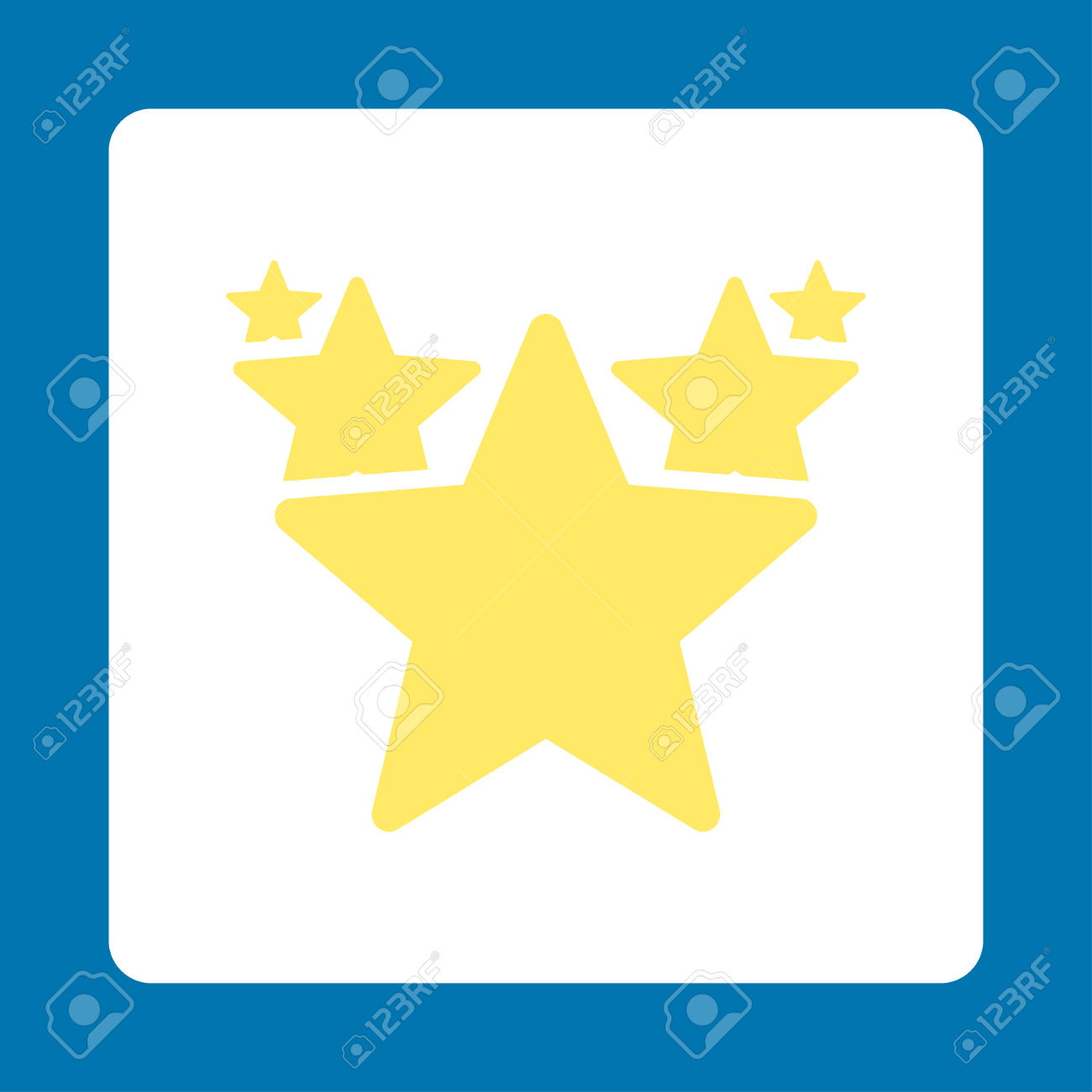 Hit Parade Icon. Icon Style Is Yellow And White Colors, Flat.