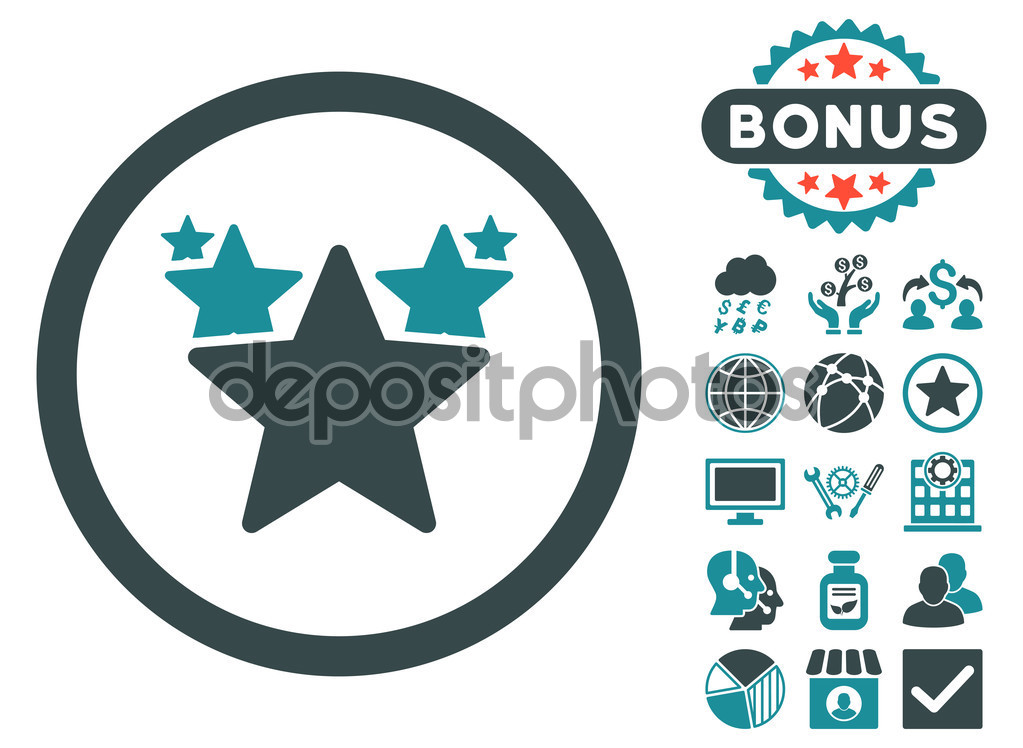 Hit Parade Flat Vector Icon with Bonus — Stock Vector © ahasoft.