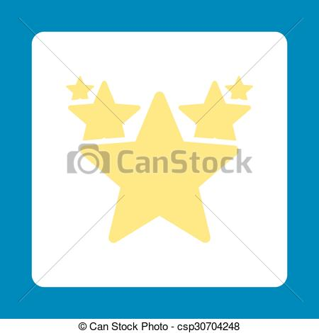 EPS Vector of Hit parade icon. Icon style is yellow and white.