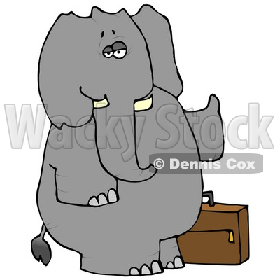 like Elephant Trying to Hitch a Ride Clipart © Dennis Cox #4885.