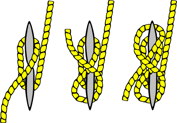 Knot Illustration (cleat Hitch) Clip Art at Clker.com.