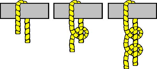 Knot Illustration (2 Half Hitches) Clip Art at Clker.com.