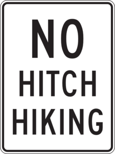 No Hitchhiking Clip Art at Clker.com.