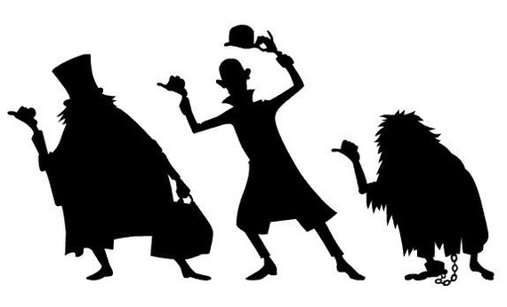 The Haunted Mansion vinyl decals Hitchhiking Ghosts.