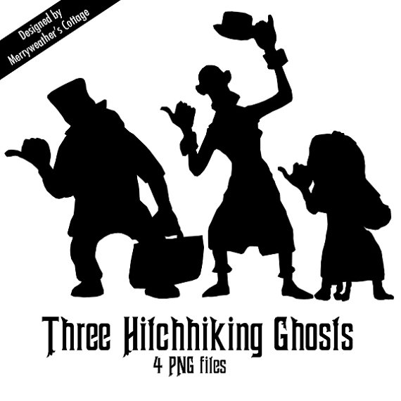 Disney's Haunted Mansion Hitchhiking Ghosts PNG files.