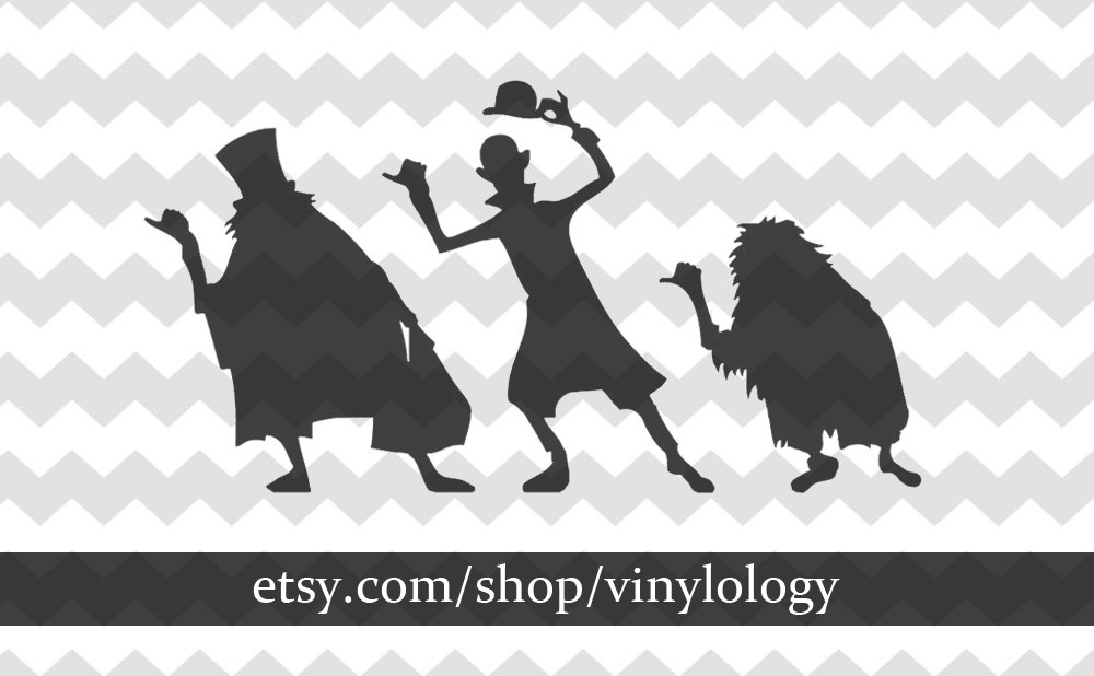 Haunted Mansion Inspired Vinyl Decals Hitchhiking Ghosts.