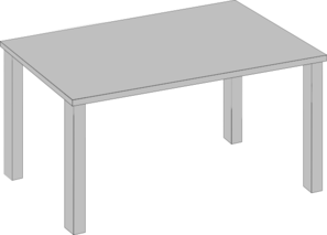 Long Table Clipart.
