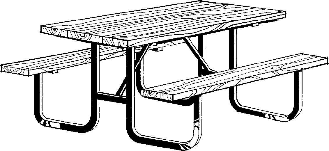 Dining table clipart black and white.