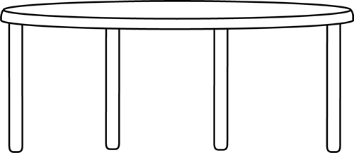 Table Clipart Black And White.